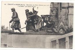"""CHALONS-SUR-MARNE . MONUMENT AUX MORTS ( Guerre 1914-18 ) """" LA RELEVE """" Par  Gaston BROQUET . CARTE NON ECRITE - Châlons-sur-Marne"""