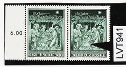 """LTV941 ÖSTERREICH 1968 Michl 1276 I PLATTENFEHLER """"HEILIGENSCHEIN (TAILLIE)"""" ** Postfrisch - Abarten & Kuriositäten"""