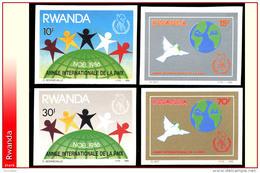Rwanda 1289/92**  ND Noel 1986  MNH - Rwanda