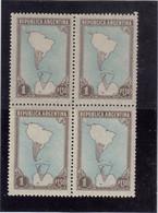 V16 - ARGENTINE PO 512** MNH De 1951 - Bloc De 4 -- Secteur ANTARCTIQUE ARGENTIN. - Bases Antarctiques