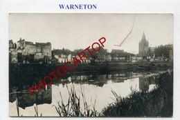 WARNETON-CARTE PHOTO Allemande-GUERRE 14-18-1WK-Belgien-France-??-Militaria - Comines-Warneton - Komen-Waasten