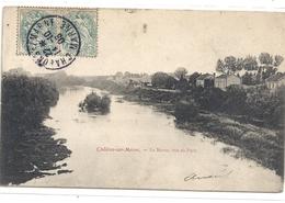 CHALONS-SUR-MARNE . LA MARNE VUE DU PONT . AFFR SUR RECTO LE 14-10-1905 - Châlons-sur-Marne