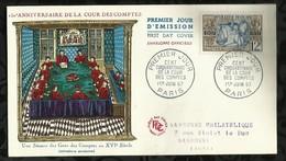 CENT CINQUANTENAIRE DE LA COUR DES COMPTES . 01 JUIN 1957 . PARIS . - FDC