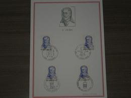 "BELG.1971 1591 FDC FILATELIA Card "" Georges Hubin (1863-1947). Ministre D'état/ Staatsminister"" - FDC"