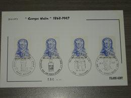 "BELG.1971 1591 FDC FILAMI Card "" Georges Hubin (1863-1947). Ministre D'état/ Staatsminister"" - FDC"