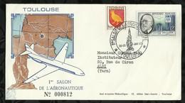 1ér SALON DE L'AERONAUTIQUE . 22 . 23 JUIN 1957 . TOULOUSE . - FDC