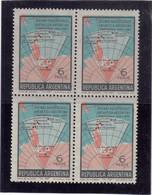 V16 - ARGENTINE PO 806** MNH De 1968 - Bloc De 4 -- Carte Du Secteur ANTARCTIQUE ARGENTIN. - Bases Antarctiques