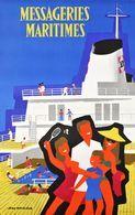 France Navigation Postcard MM Messageries Maritimes 1966 - Reproduction - Pubblicitari