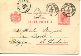 Carta Postala - Bucureci - Belgica - Entiers Postaux