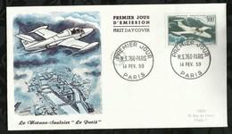 MS760 . 14 FEVRIER 1959 . PARIS - FDC
