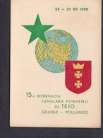 Pologne GDANSK 15è Internacia Junulara Kunveno De TEJO ( Esperanto 1959 ) - Pologne
