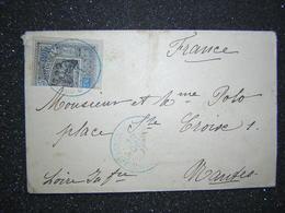 OBOCK COUPE SUR LETTRE - Stamps