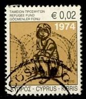 Chypre - Zypern - Cyprus 2010 Y&T N°1196 - Michel N°(?) (o) - 0,02€ Fonds Pour Les Réfugiés - Chypre (République)