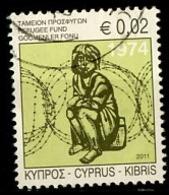 Chypre - Zypern - Cyprus 2011 Y&T N°1218 - Michel N°(?) (o) - 0,02€ Fonds Pour Les Réfugiés - Chypre (République)