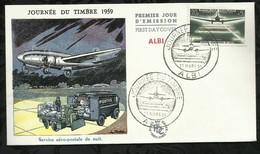 JOURNEE DU TIMBRE . 21 MARS 1959 . ALBI . - FDC