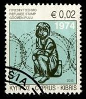 Chypre - Zypern - Cyprus 2012 Y&T N°1235 - Michel N°(?) (o) - 0,02€ Fonds Pour Les Réfugiés - Chypre (République)