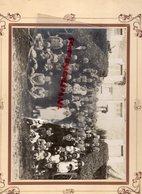 16- ALLOUE-LA BORDE- RARE PHOTO ORIGINALE MARIAGE AUDEBERT GABRIEL-DEVANT LA MAIRIE-PHOTO JEANTAUD CONFOLENS - Persone Identificate