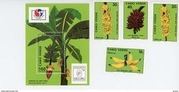 Cap Vert-Cabo Verde-1994-Bananier,Expo Philakoréa-YT 656/9+B24***MNH - Cap Vert