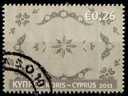 Chypre - Zypern - Cyprus 2011 Y&T N°1216 - Michel N°1201 (o) - 0,26€ Broderie - Chypre (République)
