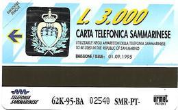 @+ Saint-Marin - Urmet - 62k-95-BA - Mint - 1995 - San Marino