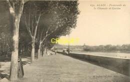 30 Alais, Alès, La Chaussée Et Gardon, Carte Pas Très Courante - Alès