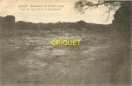 30 Alais, Alès, Inondation 1907, Vue Du Pont Vieux Et Du Gardon - Alès