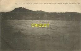 30 Alais, Alès, Inondation 1907, Vue Générale Du Gardon Au Plus Fort De La Crue - Alès