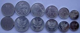 INDONESIA SERIE 6 MONETE 1994  2010 1000-500-200-100-50-25 RUPIAH FDC UNC - Indonésie