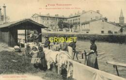 31 Toulouse, Types Toulousains, Les Blanchisseuses Au Bord Du Canal, Belle Carte écrite Par Un Poilu Hopital 101 - Toulouse