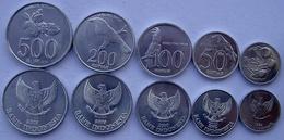 INDONESIA SERIE 5 MONETE 1996  2003  500-200-100-50-25 RUPIAH FDC UNC. - Indonésie