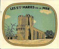 13 LES SAINTES MARIES DE LA MER CHROMOGRAPHIE ANCIENNE EGLISE CAMARGUE BOUCHES DU RHONE - Chromos