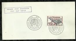 SANS DONNE . VIE SAUVEE . 17 OCTOBRE 1959 . PARIS . - FDC