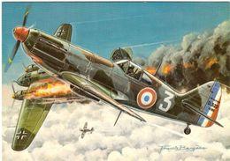Les Chasseurs De La Seconde Guerre Mondiale Dessin Francis Bergèse (dessinateur De Buck Danny) Dewoitine France - 1939-1945: 2ème Guerre