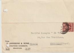 LETTRE DE D. JANSSENS & SONS - CHEAPSIDE CHAMBERS - BRADFORD - FRANCE - A SOCIÉTÉ - TOURCOING - France