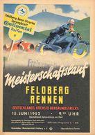 Car Automobile Grand Prix Postcard  Feldberg-Rennen 1952 - Reproduction - Pubblicitari