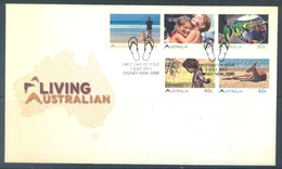 AUSTRALIA  - FDC - 5.7.2011 - LIVING AUSTRALIAN - Yv 3466-3470 - Lot 18512 - Premiers Jours (FDC)