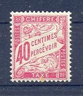 Timbre Taxe N° 35 Avec Charnière - Segnatasse