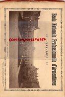 59- ARMENTIERES- RARE CATALOGUE ECOLE NATIONALE PROFESSIONNELLE 1924-1925- FONDERIE-MENUISERIE-ELECTRICITE-PHYSIQUE- - Documents Historiques