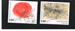 FRANCIA (FRANCE) - SG 3154.3155  - 1993  CONTEMPORARY EUROPEAN ART (COMPLET SET OF 2)   -    USED - Gebraucht