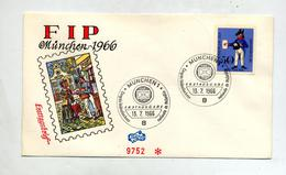 Lettre  Fdc 1966 Congres Philatelie - [7] République Fédérale