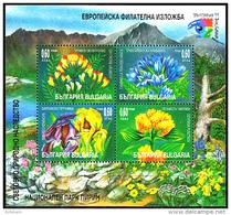 BULGARIA 1999, FLORA, MOUNTAIN FLOWERS, MNH BLOCK, GOOD QUALITY, *** - Bulgaria