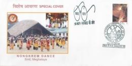 India  2018  Dances  Nongkrem Dancers   From Meghalaya  Shillong  Special Cover   # 16032  D  Inde Indien - Dance