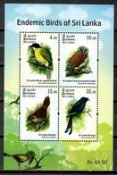 Sri Lanka 2017 Ceylán / Birds MNH Vögel Aves Oiseaux  / Cu10401  37 - Vogels