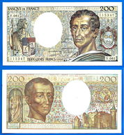 France 200 Francs 1988 Montesquieu Frcs Frs Frc Serie V Que Prix + Port Billet Paypal Skrill Bitcoin OK - 1992-2000 Ultima Gama