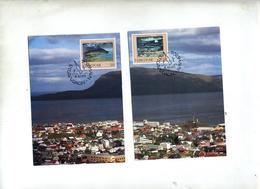 Carte Maximum 1990 Port - Féroé (Iles)