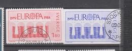 EUROPA 1984 Suède Série Complète Oblitérée - Europa-CEPT