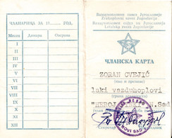 AVIATION FEDERATION OF YUGOSLAVIA - Historical Documents