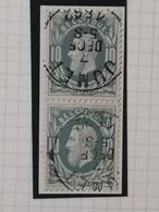 COB N° 30 (paire). Oblitération Jumet 1882 - 1869-1883 Léopold II