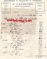 87- SAINT VICTURNIEN - RARE FACTURE L. LATHIERE- PLATRIER-PEINTRE-VITRIER-PLATRERIE-PEINTURE-VITRERIE-1931 - Petits Métiers