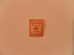 FRANCE  YT TX58 TYPOGRAPHIE 60c. Rouge* - Segnatasse